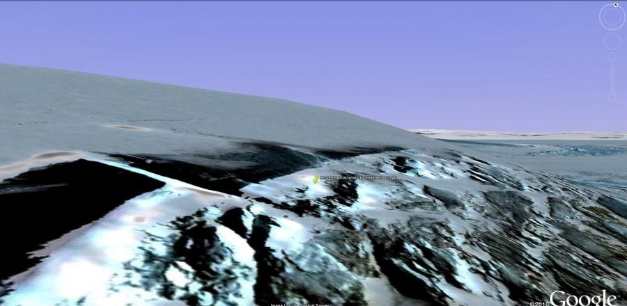 следы в антарктиде