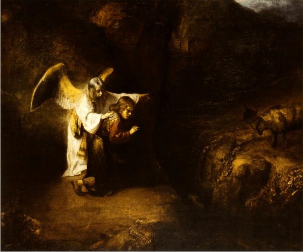 Видение Даниила. Художник Рембрандт Харменс ван Рейн 1650 г.