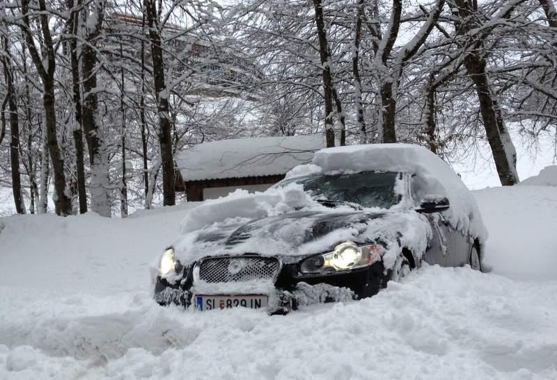 Январь 2012 года возле австро-германской границы
