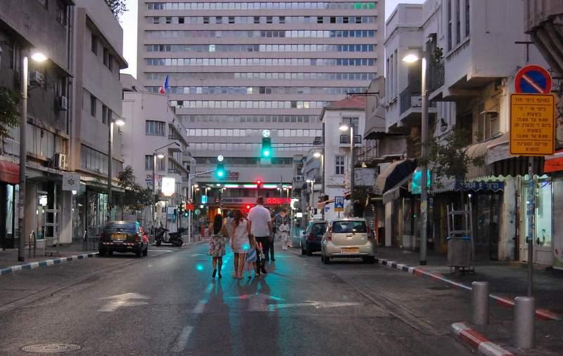 Улица Герцля в Тель-Авиве