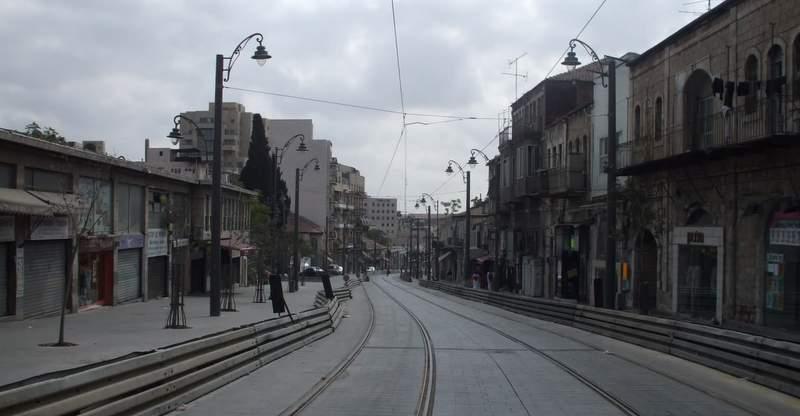 Улица Яффо в 2011 году