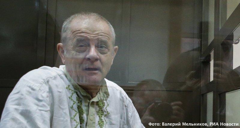 Полковник ГРУ Квачков сегодня в Мосгорсуде. Фото Валерия Мельникова, РИА Новости