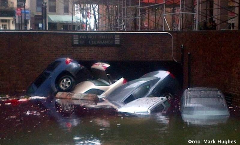 Последствия урагана на Манхэттене