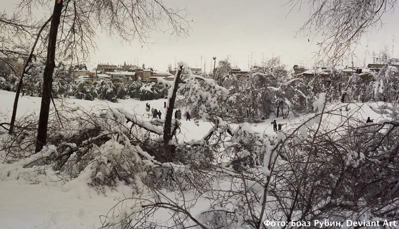 Иерусалим в снегу, 1992. Фото: Боаз Рубин, Deviant Art, полная версия по ссылке