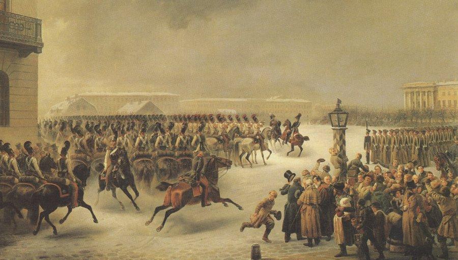 Восстание 14 декабря 1825 года. Картина Василия Тимма