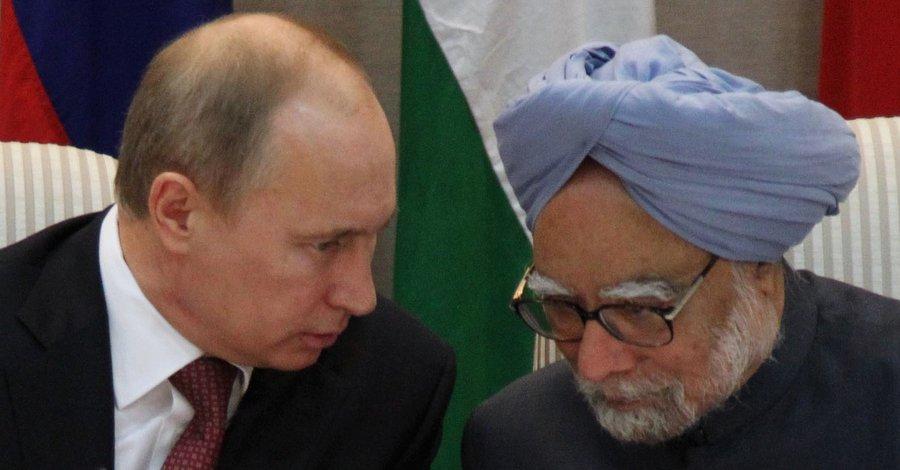 Путин и Манмохан Сингх. Фото пресс-службы Кремля