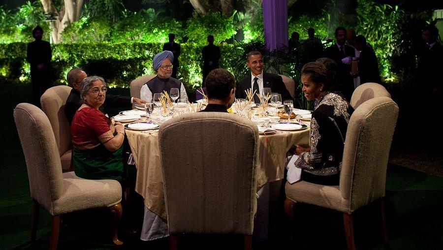 Приём в резиденции Панчавати в честь Барака Обамы, 2010