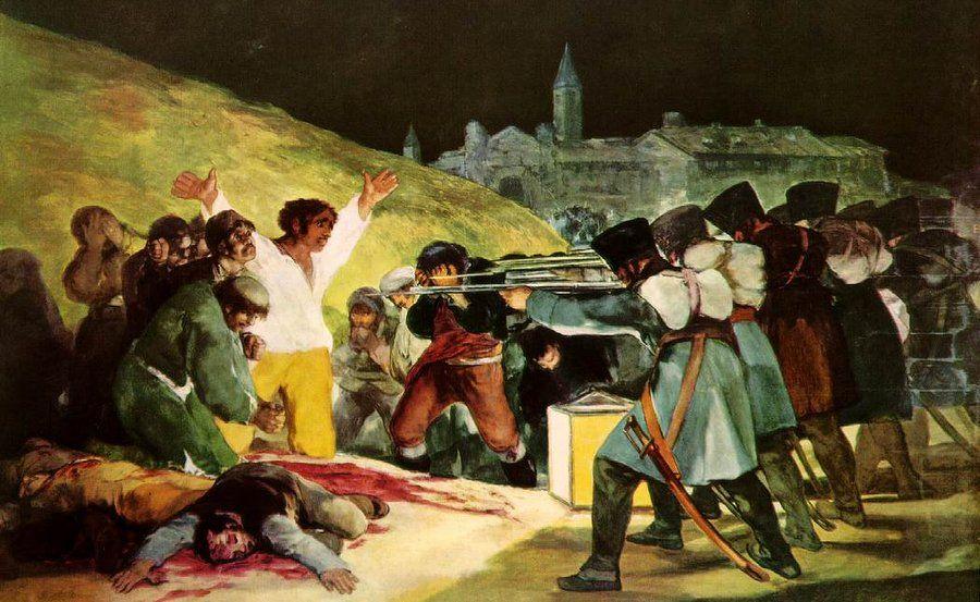 Франсиско Гойя. Расстрел повстанцев в ночь на 3 мая 1808 года
