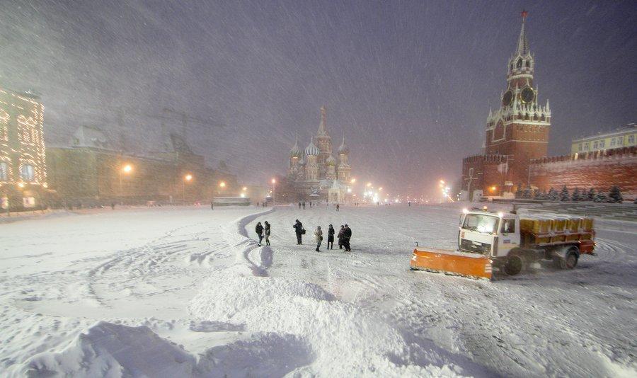 Красная площадь 4 февраля, фото Дениса Тырина, РИА «Новости»