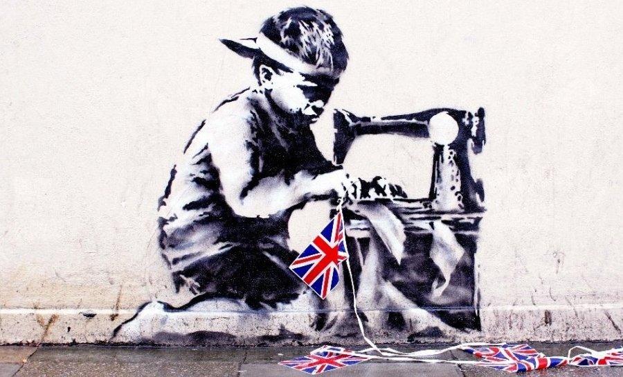 Работа Banksy «Рабский труд»