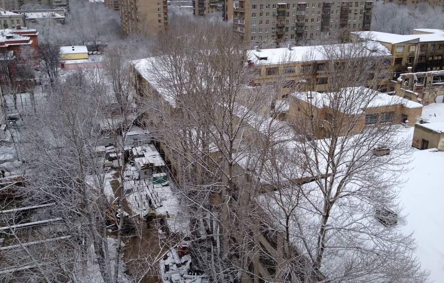 Бывшая Академия Жуковского под снегом