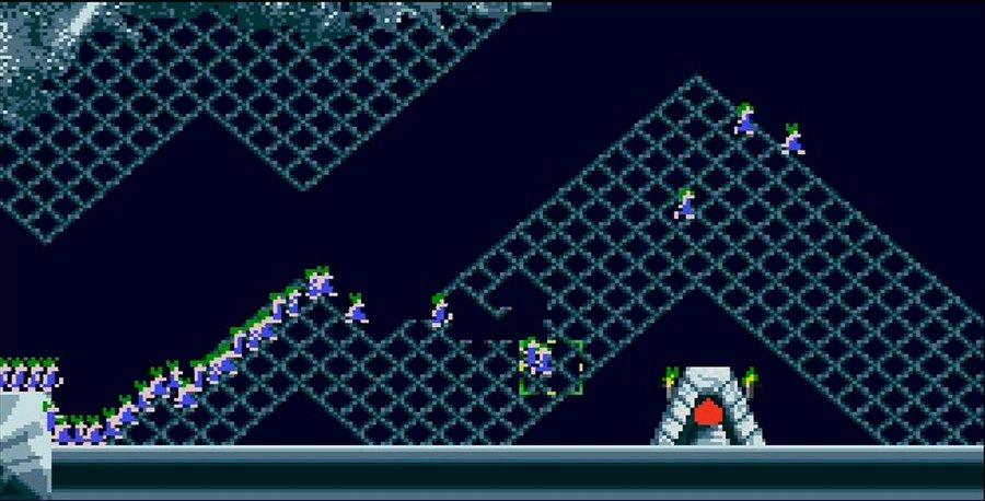 Скриншот из Леммингов