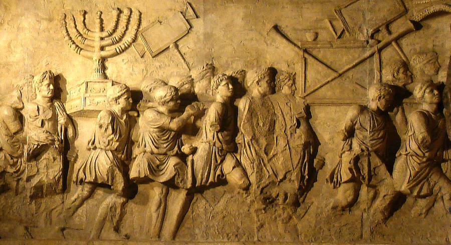 Евреи в римском плену, барельеф с Титовой арки