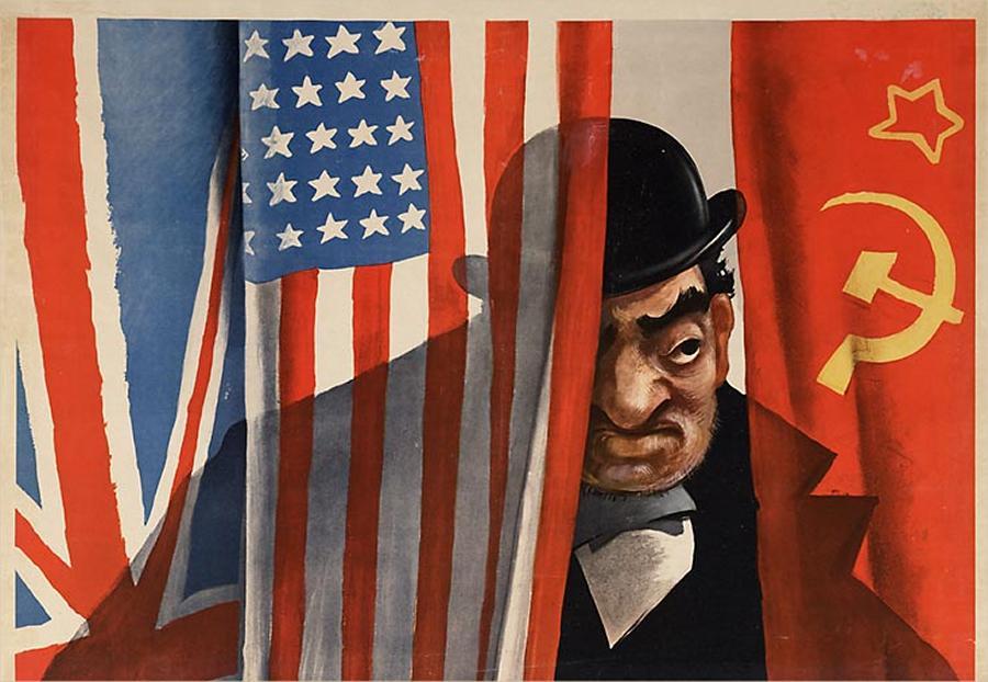 Нацистский плакат Hinten den Feindmachten: der Jude