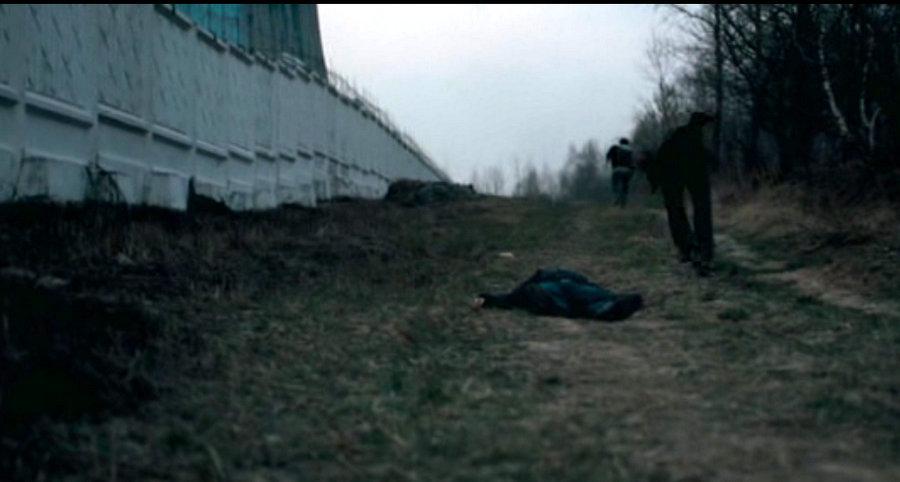 Кадр драки в Западном Бирюлёво из фильма «Елена»