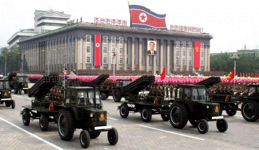 Парад РВСН в центре Пхеньяна
