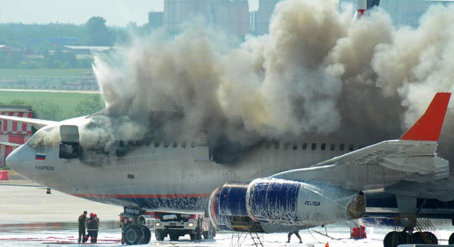Пожар ИЛ-96 в Шереметьево