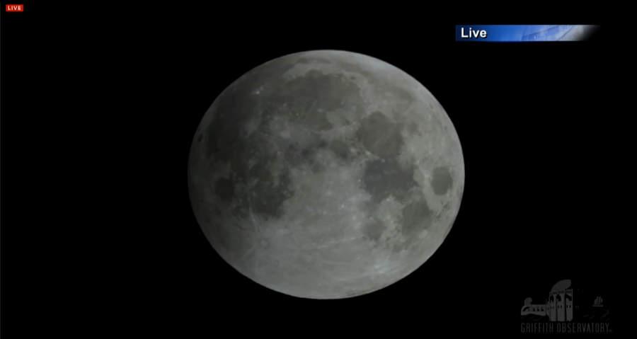 Лунное затмение на сайте NASA