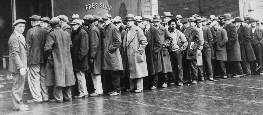 Пресловутая очередь безработных за бесплатным супом