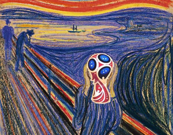 Картина Мунка про футбол