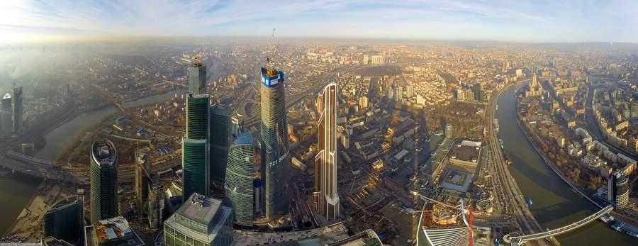 Москва Сити, фото с воздуха
