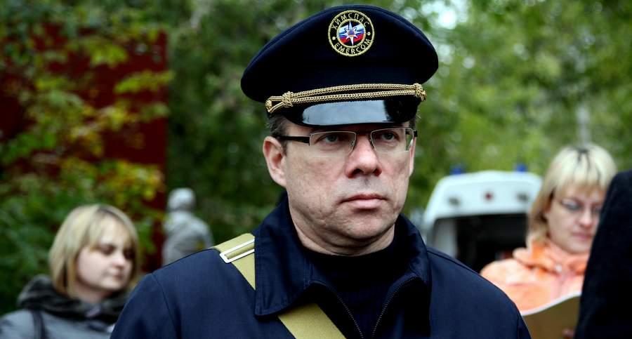 Олег Шахов на учениях МЧС
