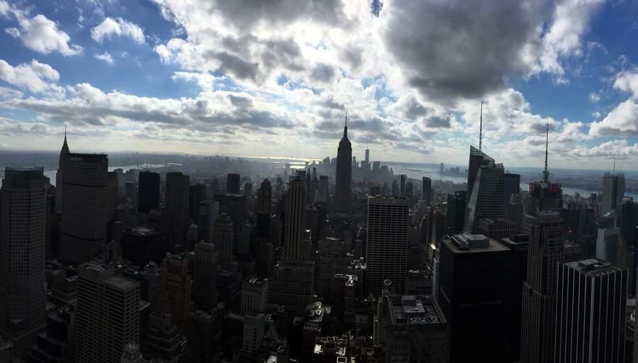 Вид на Манхэттен с Рокфеллеровского центра