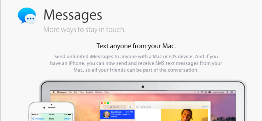 send and receive SMS text messages from your Mac, so all your friends can be part of the conversation
