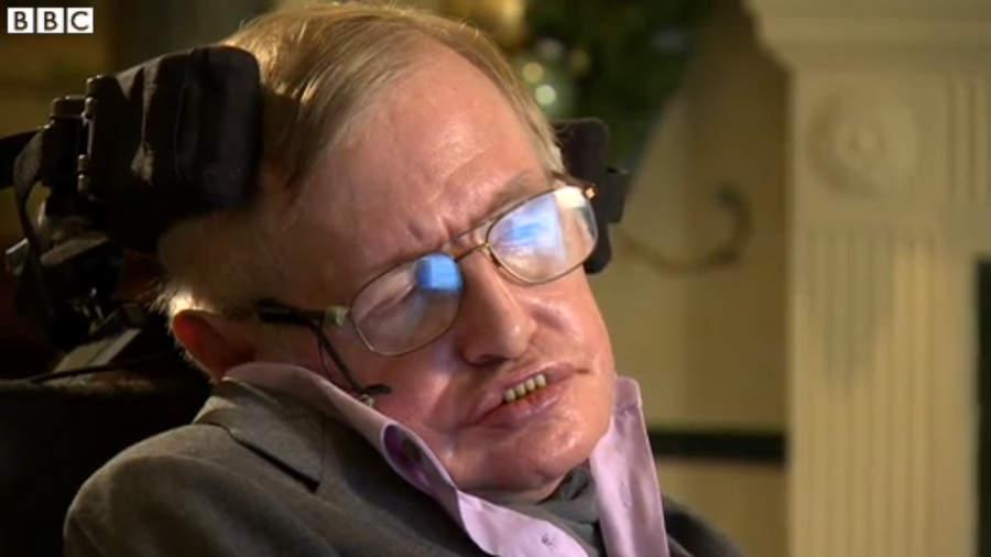 Стивен Хокинг даёт интервью BBC