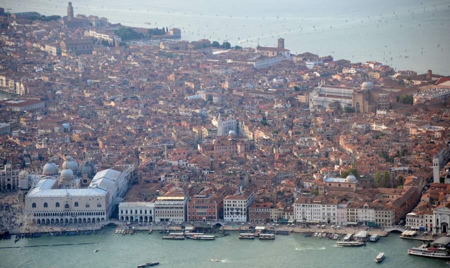Венеция, вид с вертолёта