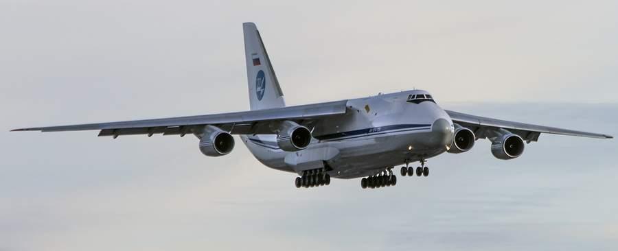 Ан-124-100 подлетает к Внуково