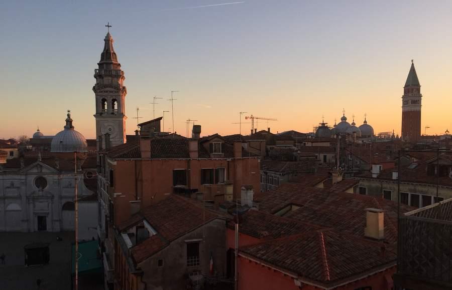 Закат в Венеции 5 января