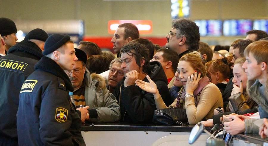Стойка вылета в Домодедово, фото Михаила Воскресенского Reuters