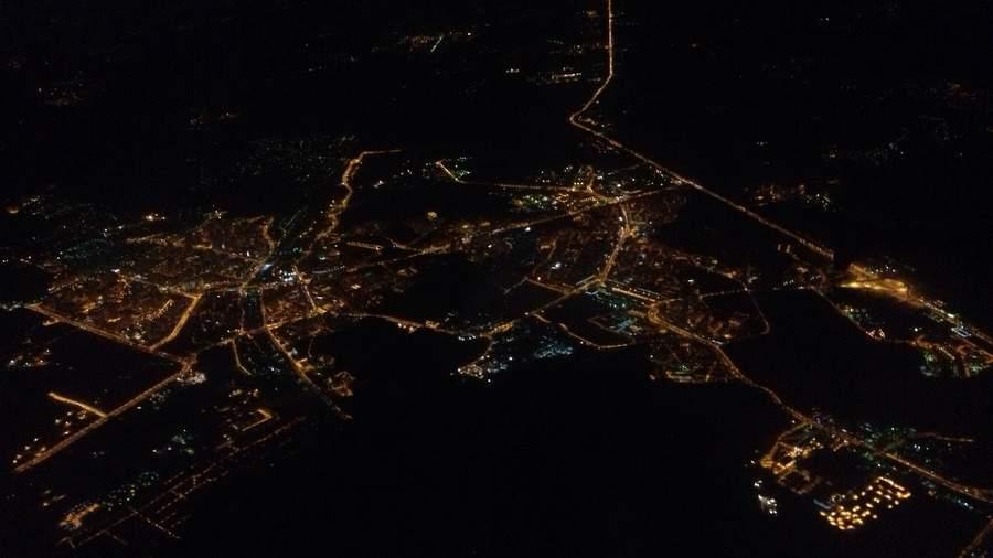 Ночная посадка в Шереметьево, фото Евгения Михайлова, mytravelnotes.ru