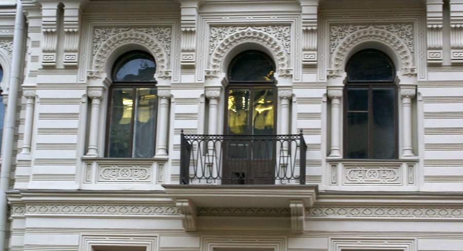 Балкон Бродского в доме Мурузи