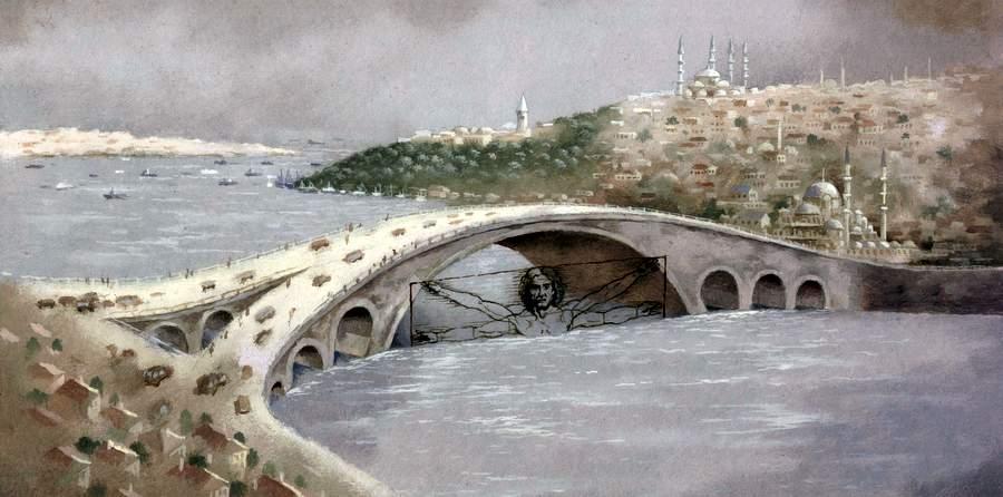 Нереализованный проект Леонардо: мост Галата в Стамбуле