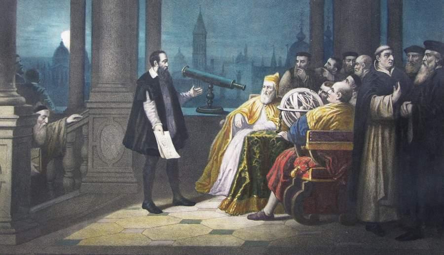 Галилей демонстрирует дожу телескоп
