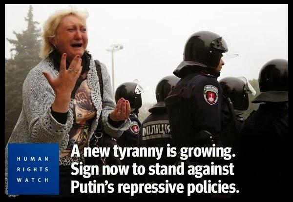 Тирания Путина в Одессе