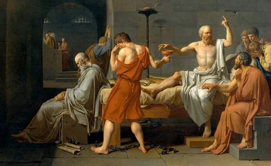 Картина Давида Смерть Сократа