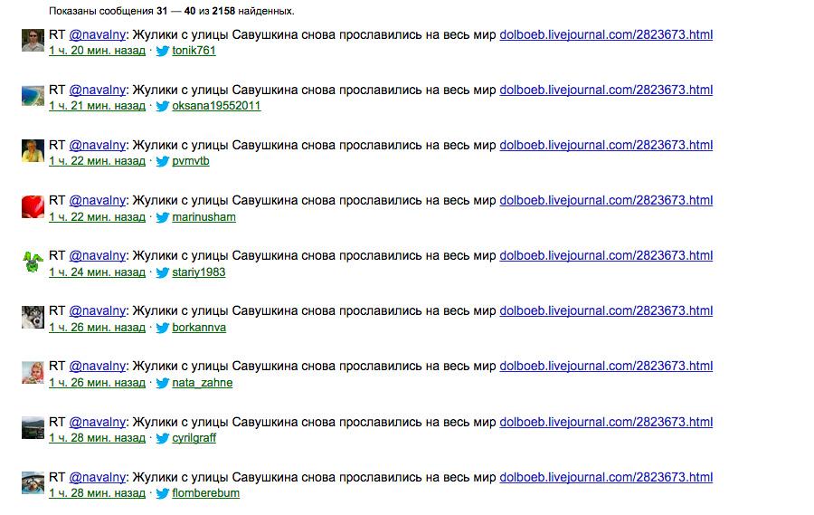 Ретвиты Навального