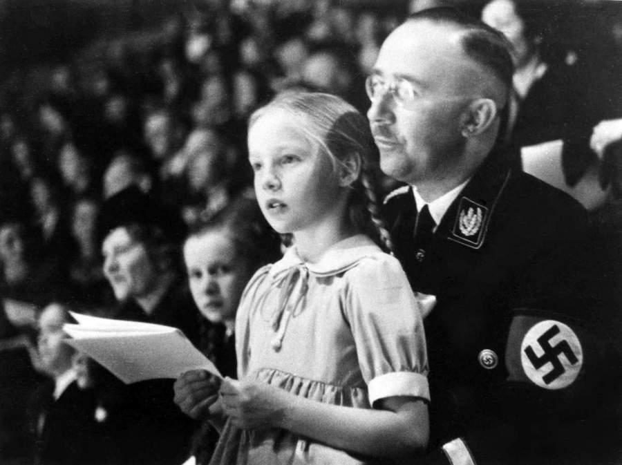 Генрих Гиммлер с дочерью Гудрун