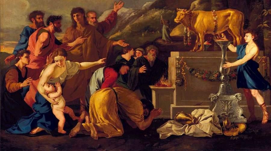 Андреа ди Леоне, Поклонение золотому тельцу