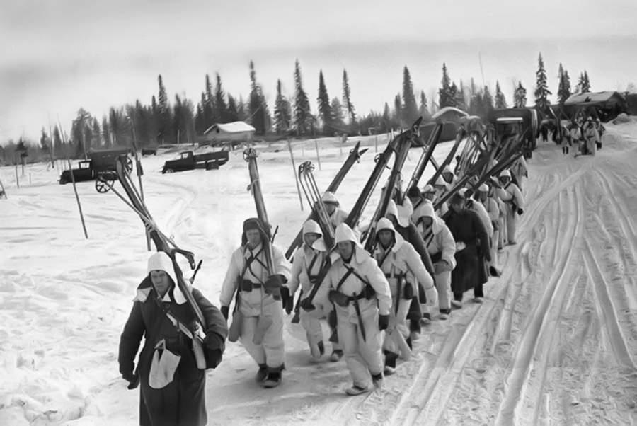 Лыжный батальон времён Финской войны
