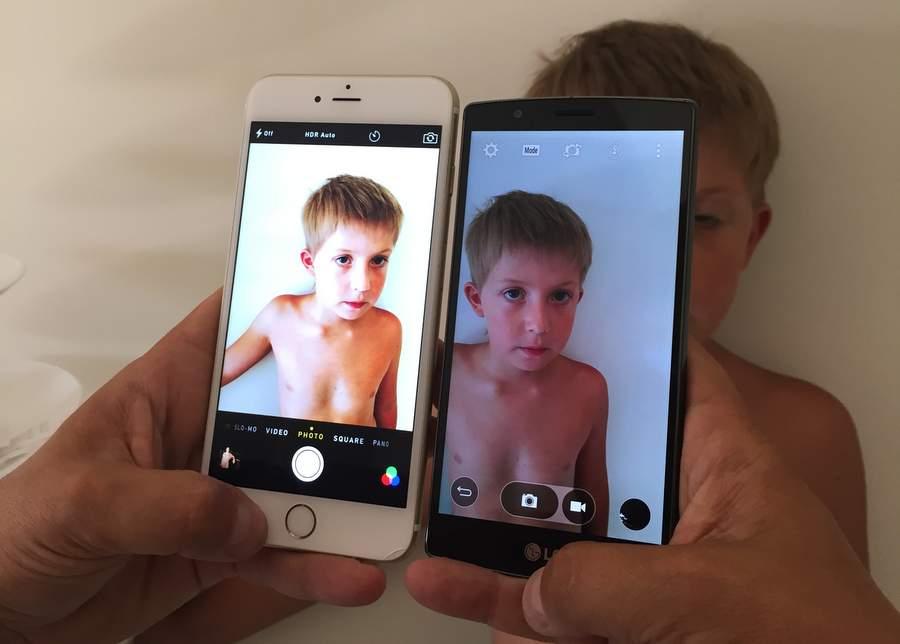Сравнение камер в двух телефонах