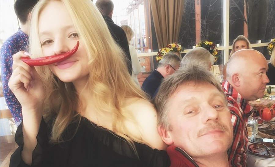 Лиза Пескова с отцом