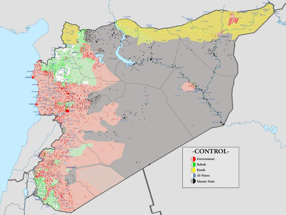 Расстановка сил в Сирии