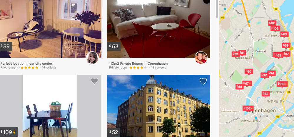 Расценки на квартиры в центре Копенгагена
