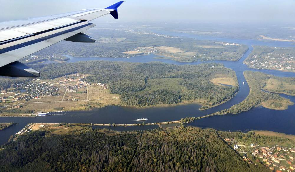 За 10 минут до посадки, фото с борта SAS