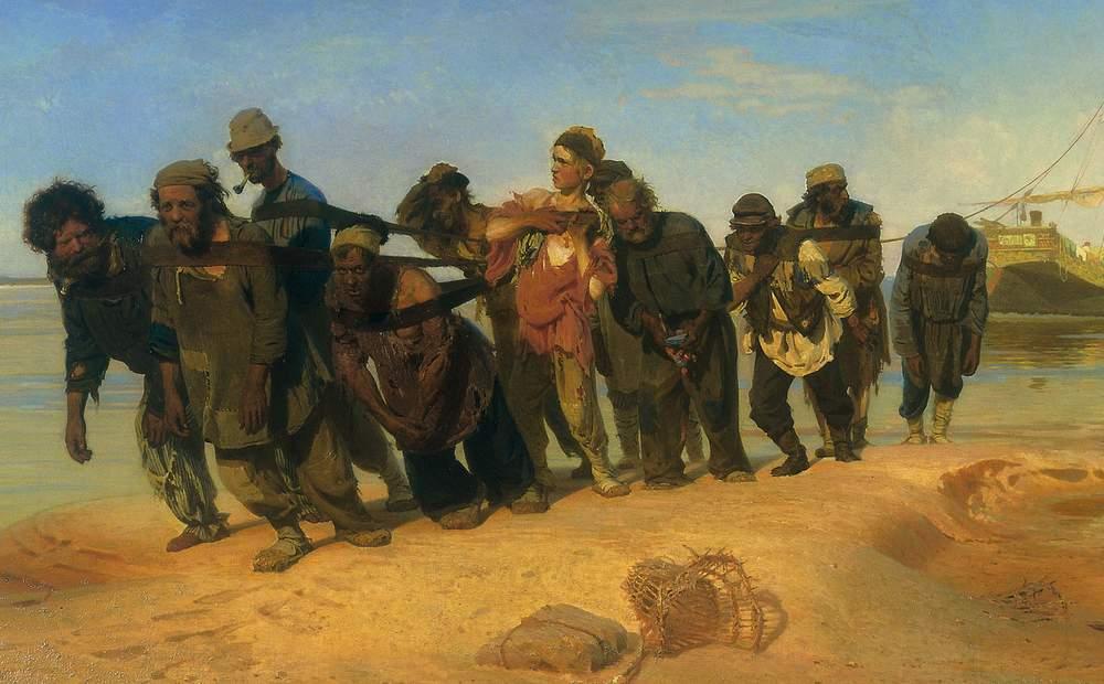 Илья Репин, Бурлаки на Волге. Фрагмент