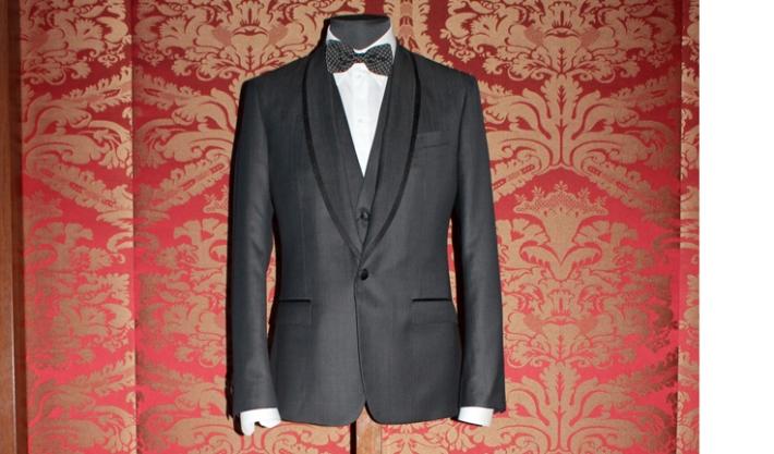 Серый смокинг Dolce&Gabbana FW14